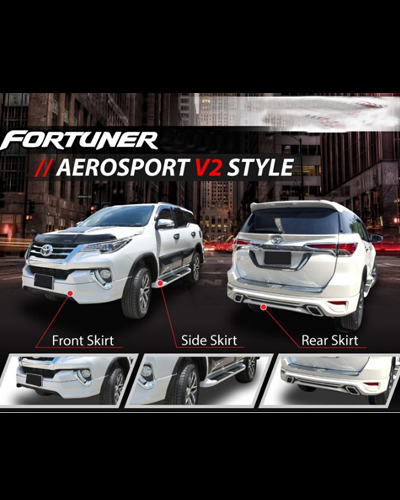 BODY KIT FORTUNER 2016 MẪU AEROSPORT V2