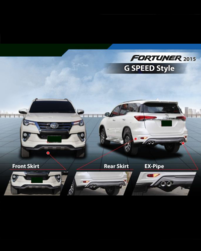 BODY KIT FORTUNER 2016 MẪU G SPEED