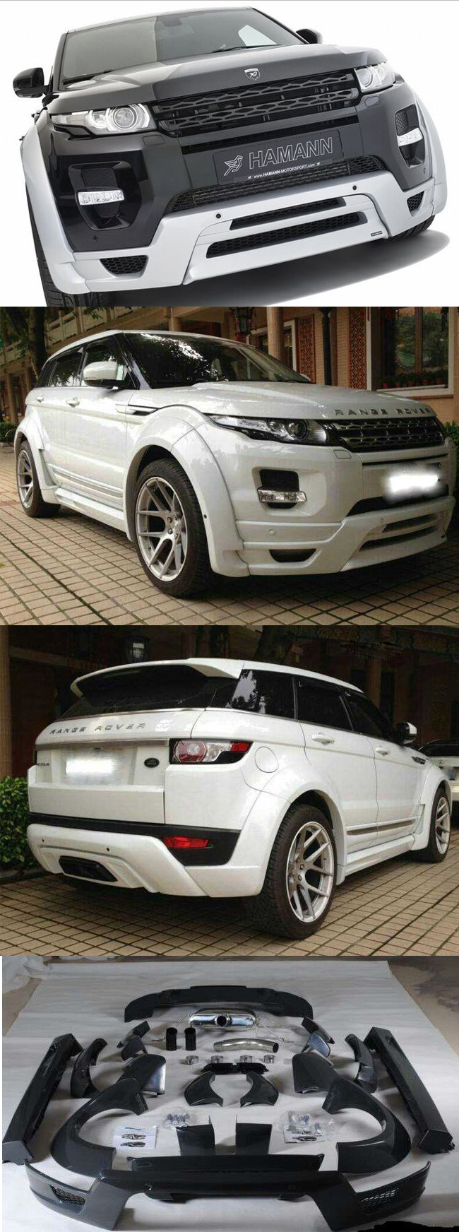 body lip range rover evoque m u hamann range rover evoque. Black Bedroom Furniture Sets. Home Design Ideas