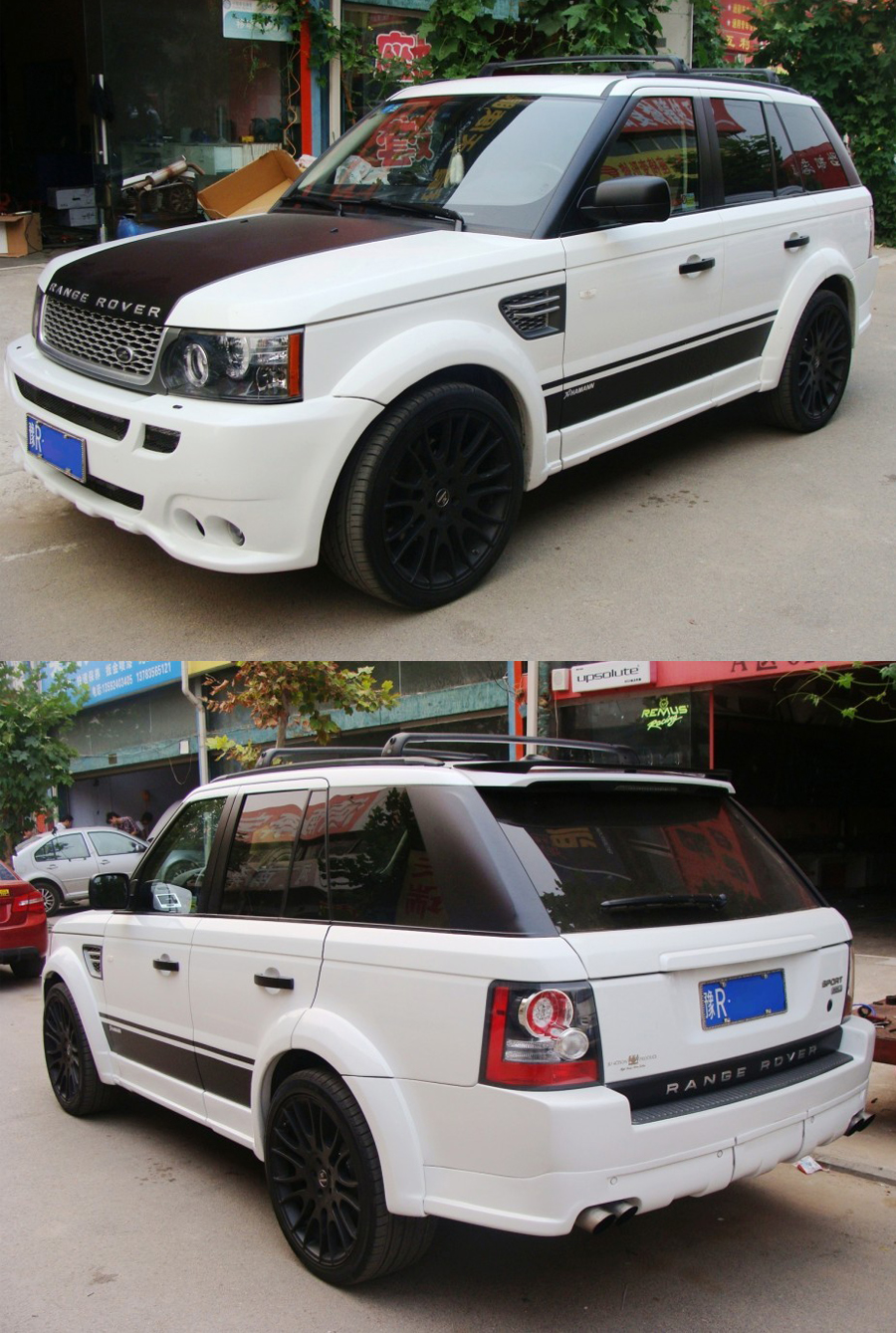 body kit m u hamann iy range rover 2008 range rover l322. Black Bedroom Furniture Sets. Home Design Ideas